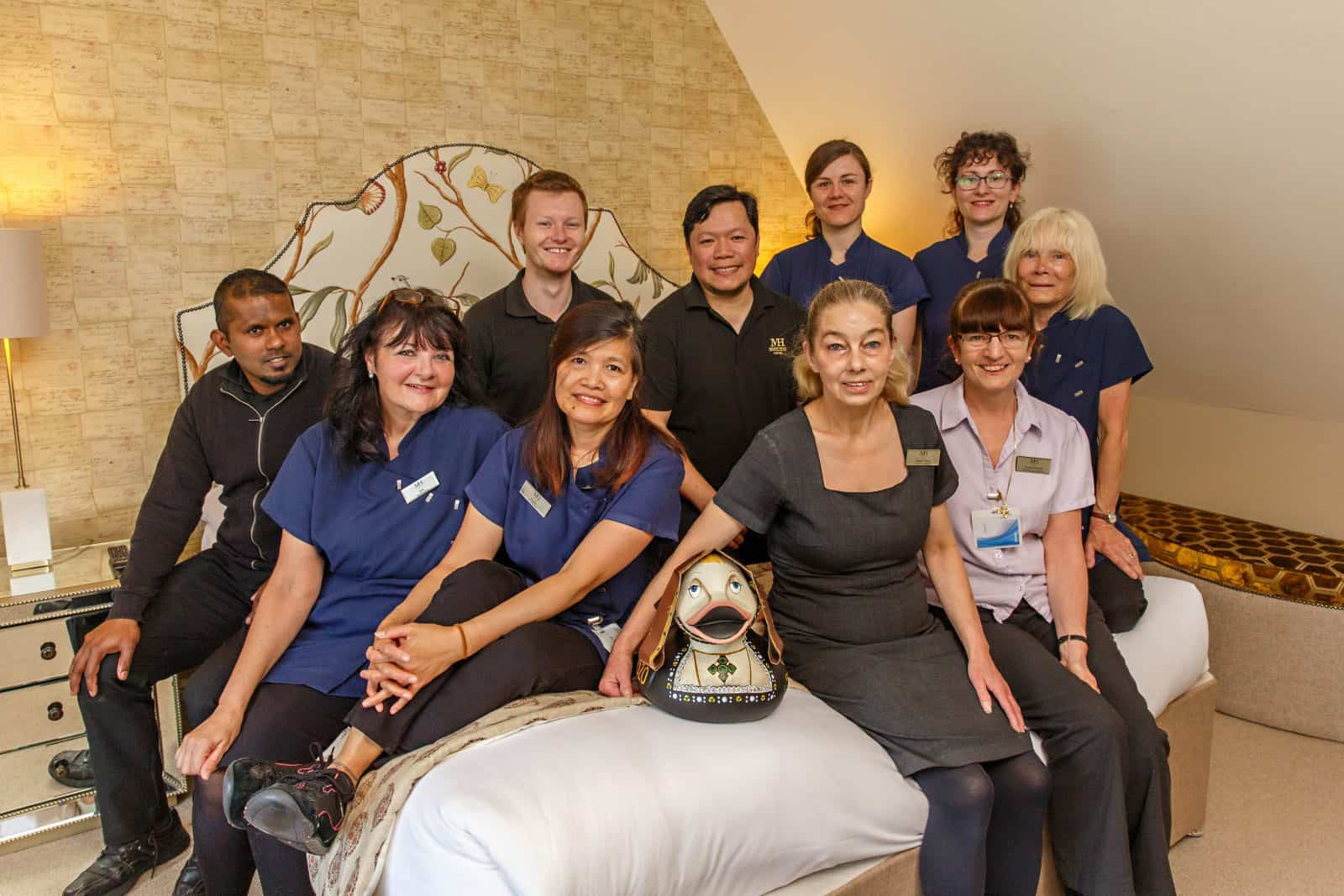 Our house keeping team, proud of our vision and values
