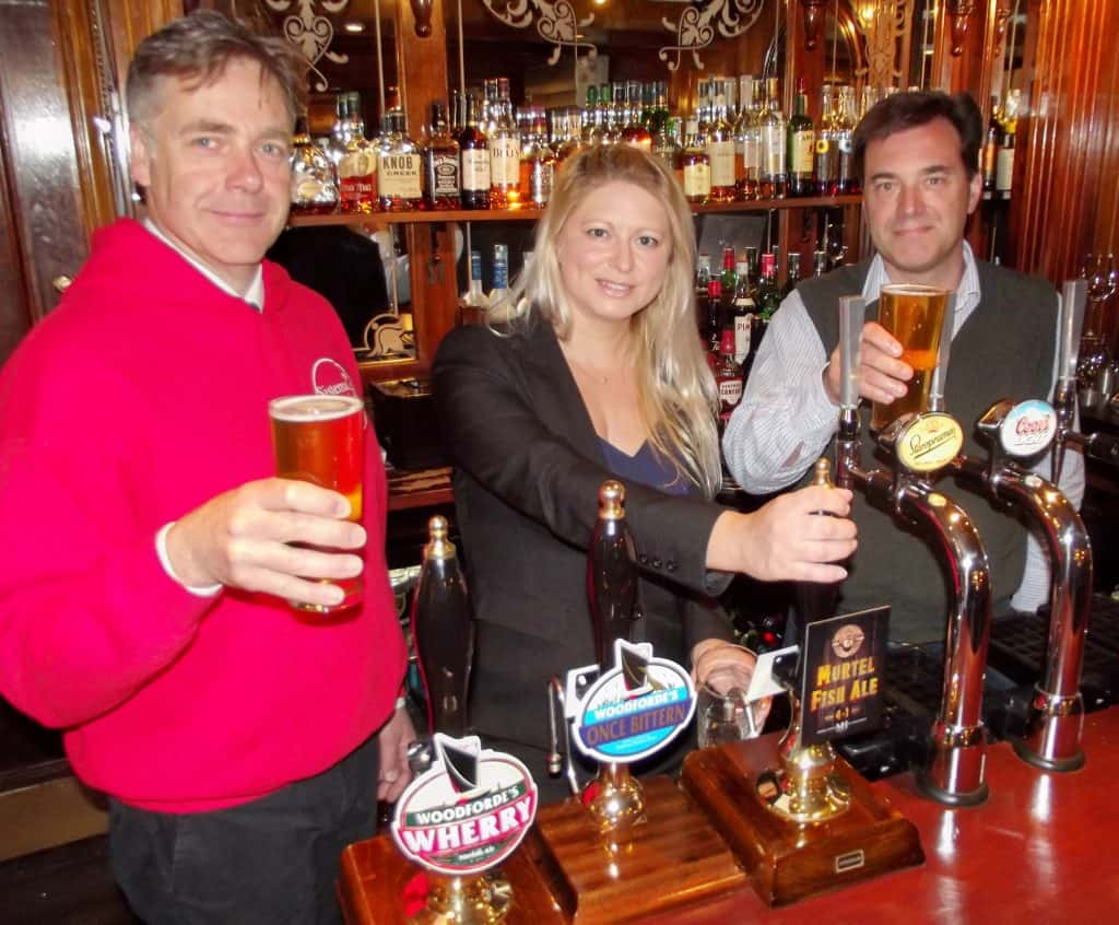 launching Murtel Fish Ale in the Maids Head Bar