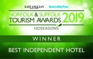 Maids Head - Winner of the Best Independent Hotel 2019 in the Norfolk and Suffolk Tourism Awards