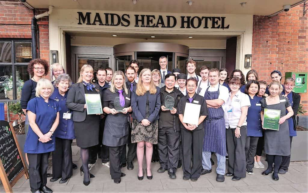 Maids Head staff celebrate the Tourism Awards wins