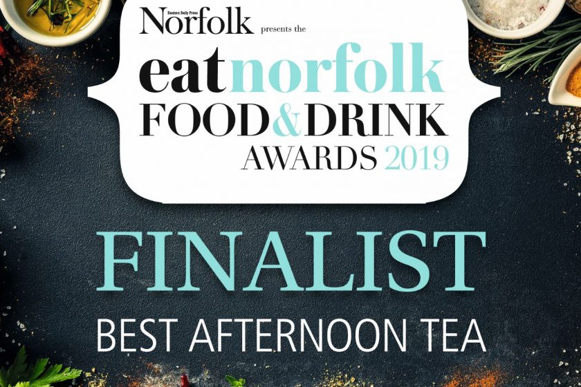 Maids Head Finalist in the Best Afternoon Tea Award 2019 in the Eat Norfolk Food and Drink Awards