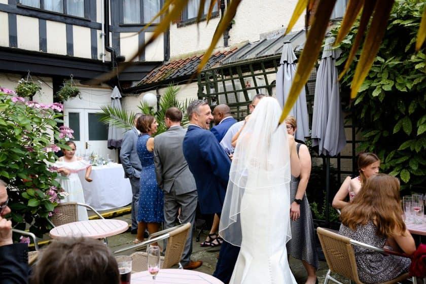 Maids Head Weddings outside drinks reception