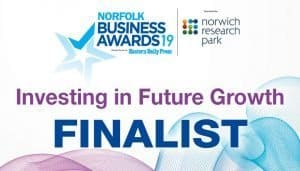 Norfolk Business Awards Investing in Future Growth Finalist
