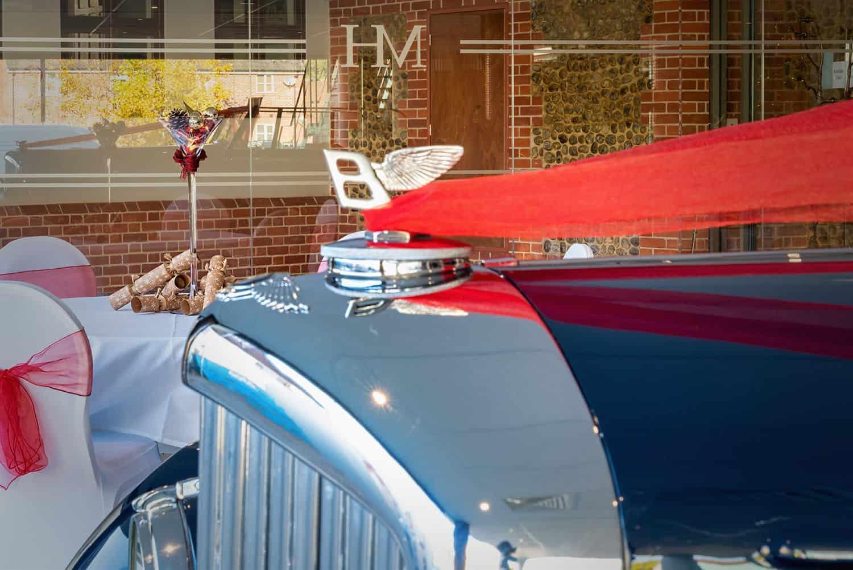 Vintage Bentley in Maids Head Bentley Showroom