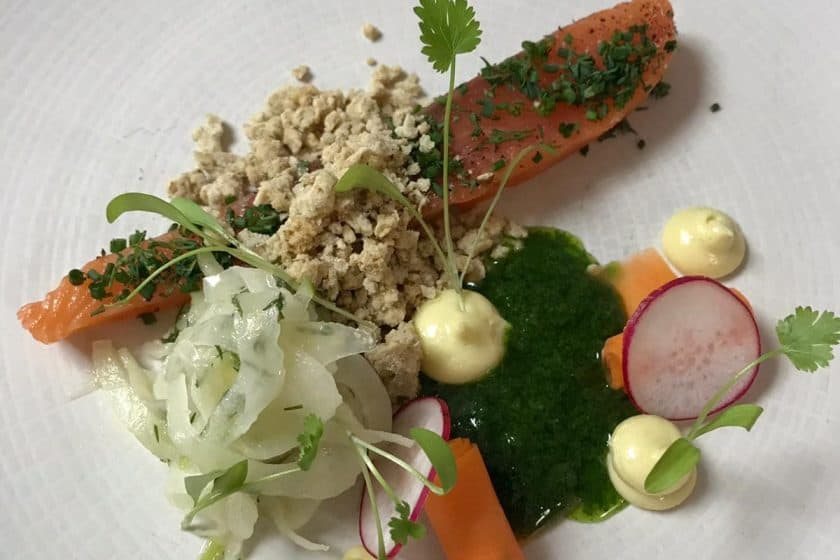 WinePress Restaurant herb smoked salmon